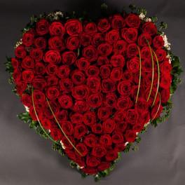 Grand Coeur de roses